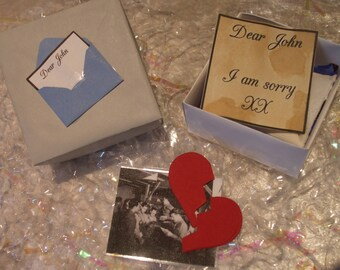 1940's Dear John Boxes  ~ Unique Wedding favours, Handmade gifts, Vintage Gifts, Vintage