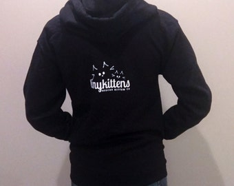 S - Black - Official TinyKittens Hoodie (Unisex) - 100% of proceeds support rescue efforts!
