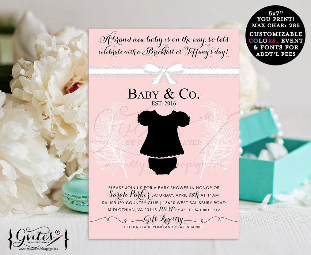 baby co baby shower invitation breakfast diamonds and by gvites