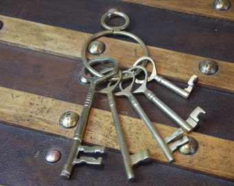 Vintage Decorative Brass Keys