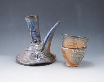 Wine Decanter w/ Medicine Cups