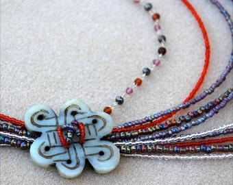 Bohemian Style Multi Strand Necklace