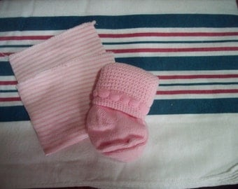HoSpiTaL ReCeiViNg BLaNkEt SeT FoR BaBy Or ReBoRn DoLL
