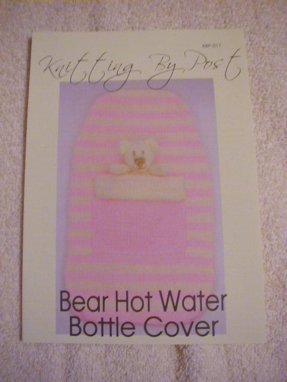 Bear Hot Water Bottle Cover Knitting Pattern In DK from knittingbyme on Etsy ...