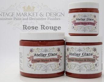 FREE SHIPPING!! Rose Rouge- Vintage Market & Design's Furniture Atelier Glaze-All Natural(3 Sizes)