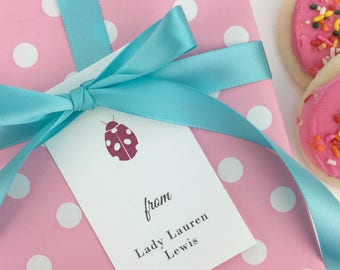 Personalized Tags / Custom Tags / Birthday Tags/ Gift Tags/ Favor Tags / Ladybug / Kids & Children / Set of 10
