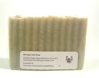 Set of 8...Moringa Lime Soap