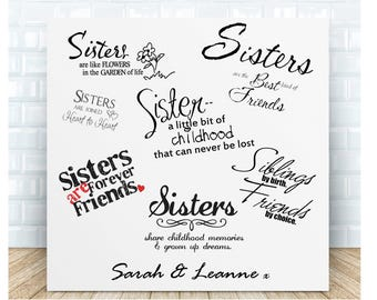 Sister Quotes Personalised Ceramic Plaque