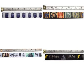 Harry potter, Snape, Hogwarts and Dr Who grosgrain ribbon
