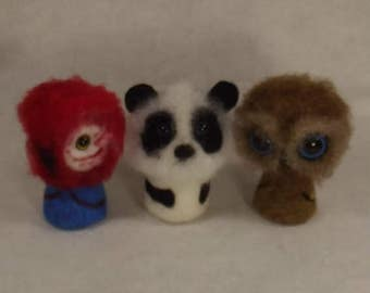 PDF needle felting tutorial. Little Critters Needle felting tutorial. Panda needle felting PDF tutorial. Macaw needle felting tutorial.