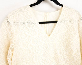 Stunning 50's Ivory Lace Blouse
