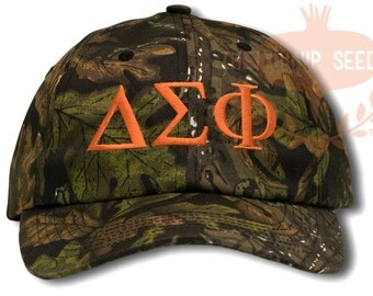 Delta Sigma Phi Baseball Cap - Custom Color Hat and Embroidery.