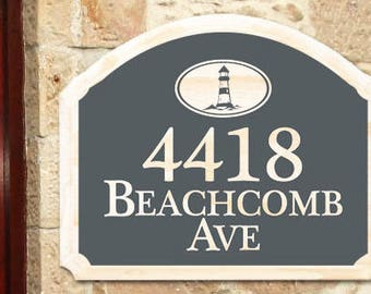 Beach house sign Address Plaque lake house sign Welcome Sign home decor  custom sign name sign wall decor personal sign Beach House Decor