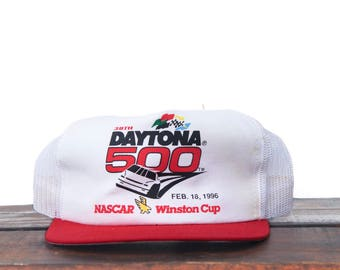 Vintage Deadstock New With Tags 1995 Daytona 500 Winston Cup Nascar Racing Trucker Hat Snapback Baseball Cap