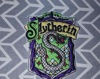 Slytherin  Harry Potter Inspired  Iron on No Sew Embroidered Patch Applique