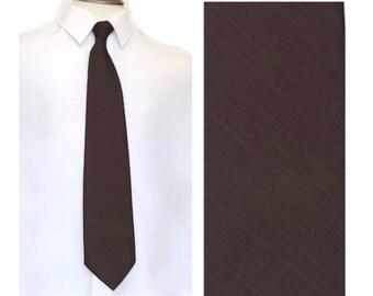 "Vintage 70s Polyester Tie,Solid Brown CURRIE CANADA Necktie,55.9"" x 4.1"" Tie,Wide Wide Kipper Tie,Hipster Tie,Boho Retro Tie,Made in Canada"