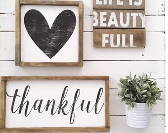 Life is Beauty Full Mini Pallet Sign