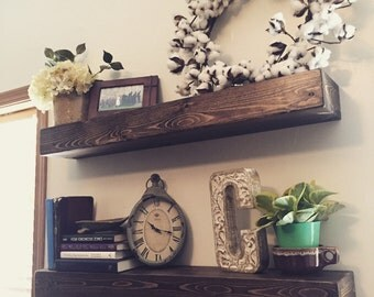 Wooden Floating Shelves//Solid Wood Shelves