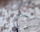Raw blue diamond ring // Hidden Gems