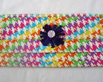 Duct Tape Houndstooth Clutch, Make-up Bag, Free Shipping!