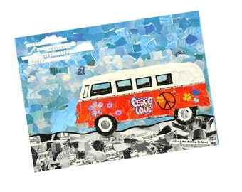 Love Bus Card. a6 card with envelope