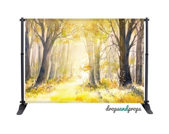 Watercolor Forest - Photography Backdrop