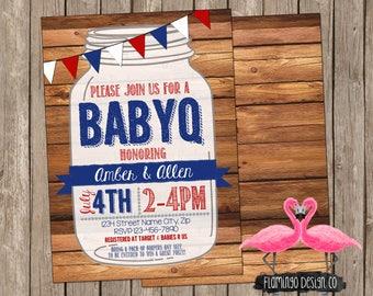 BABYQ Theme Baby Shower Invitation