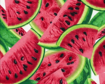 Watermelon Slices, Fresh Fruit, Novelty Fabric, Timeless Treasures (By 1/2 yd)