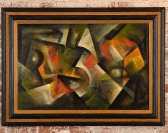 Ozz Franca -Untitled Abstract - 1960s Modernism -Beautiful Oil Painting  Oil painting