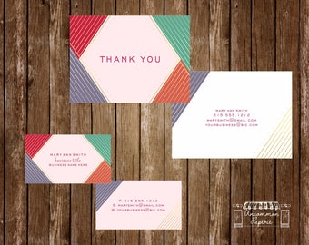 Business Stationery {Includes coordinating Business and Thank You cards }  | Rodan and Fields | LulaRoe | DoTerra | etc.