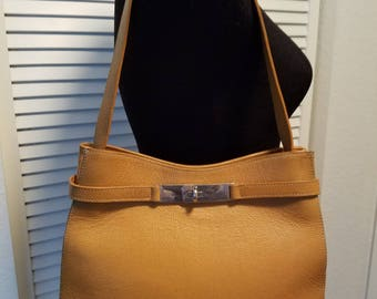 Rare FRANCESCO BIASIA  Birkin Leather Handbag