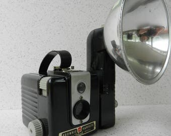 Mid Century Kodak Brownie Hawkeye Camera, Flash Model, Photography, Display, Decor, Prop