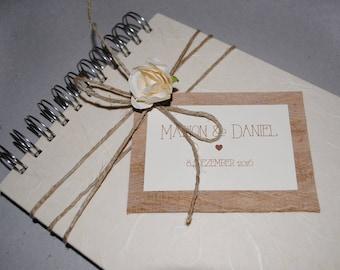 Guest book, wedding, vintage