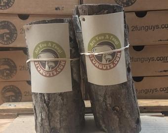 "2 - 6"" to 9"" Shiitake Mushroom Log (2 logs per order) Mushrooms"