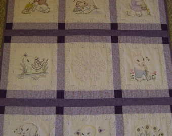 Snuggly Animal baby quilt