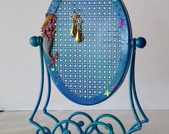 Mermaid jewelry holder stand, Earring hanger stand, Mini jewelry stand, Earring display, Earring organizer, Earring holder,Jewelry organizer