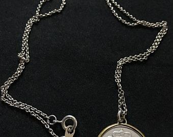 Vintage Sterling 1963 Letzeburg Coin Necklace
