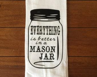 Mason Jar Kitchen-Kitchen Towels-Fun Kitchen Towels-House Warming-Gag Gift-Funny Kitchen Towel-Mason Jar Kitchen Towel-Southern Kitchen