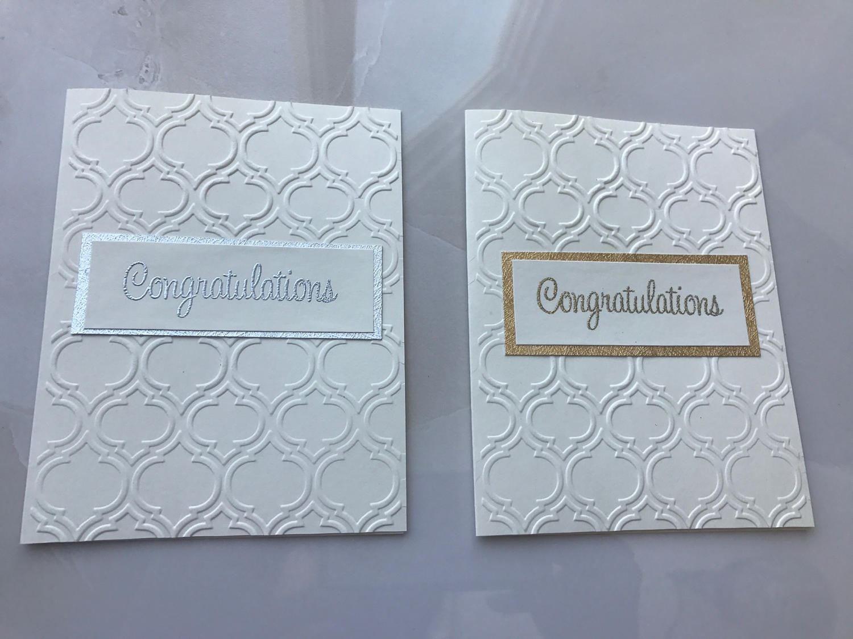 2 Congratulations Greeting Cards Moroccon Design Card Wedding