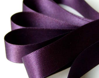 50 mm (2 inch)  Double Satin Ribbon  BLACKBERRY   x 2 metres Bridal Sash, Chair, Flower Girl, Bouquets etc
