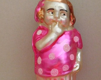 Girl in Pink Ornament Made in Germany