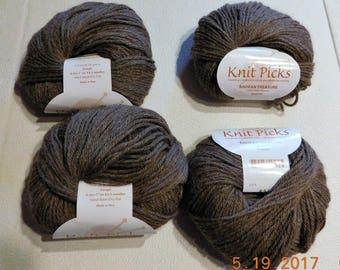 4 Skeins Knit Picks Andean Treasure 100% Alpaca Granite