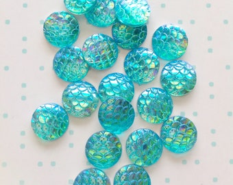 Mermaid Flatback 20 set Sewing Craft Buttons