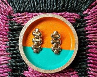 Vintage 80s/90s Gold Chunky Dangle Earrings