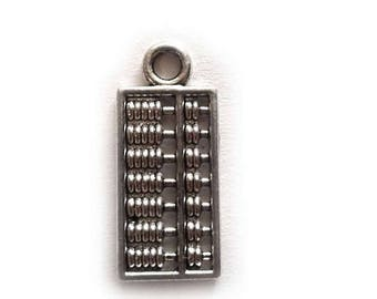 HALF PRICE 6 Silver Abacus Charms - 18mm