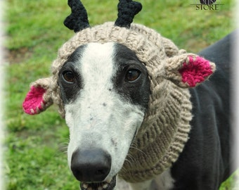 REINDEER HAT for greyhound/galgo/lurcher