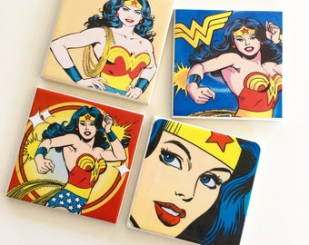 Ceramic Tile Coasters - Wonder Woman Various!
