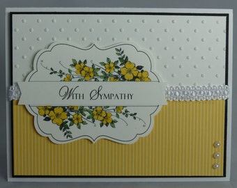 Stampin Up Handmade Greeting Card: Sympathy Card, Apothecary Art, Condolence, Condolences, Thinking of You, Funeral, Masculine