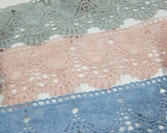 1yrd Cotton Venice Lace/NV236-Embroidery Cotton Lace/Exquisite Lace/