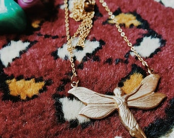 SHE GODDESS // Solid Raw Brass Delicate Statement Necklace